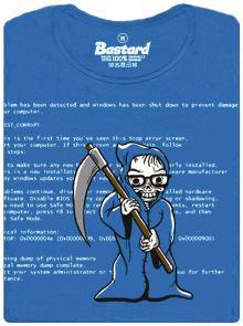Modrá smrt Windows XP - dámské tričko
