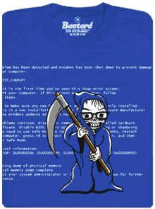 Modrá smrt počítače - pánské tričko