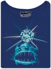 Mořský disco ďas - modré dámské tričko s potiskem