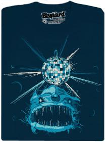 Mořský disco ďas - modré pánské tričko s potiskem