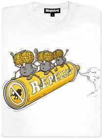 Mouchy a repelent ve spreji - bílé dámské tričko