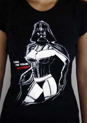 Paní Vaderová - černé dámské tričko s potiskem