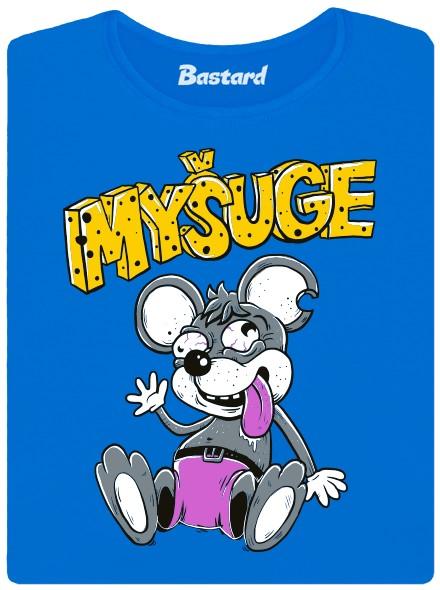 Mišuge mešuge myš myšák - modré dámské tričko