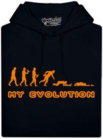 Pánská mikina s potiskem My evolution