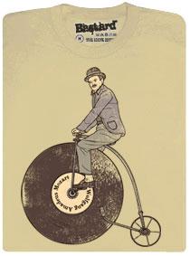 Na čem ujíždíš - gramofonová deska jako bicykl