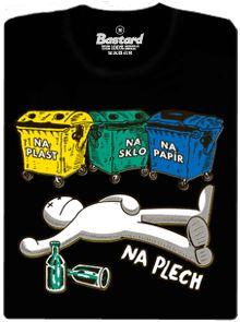 Tříděný odpad - na plech - černé pánské tričko