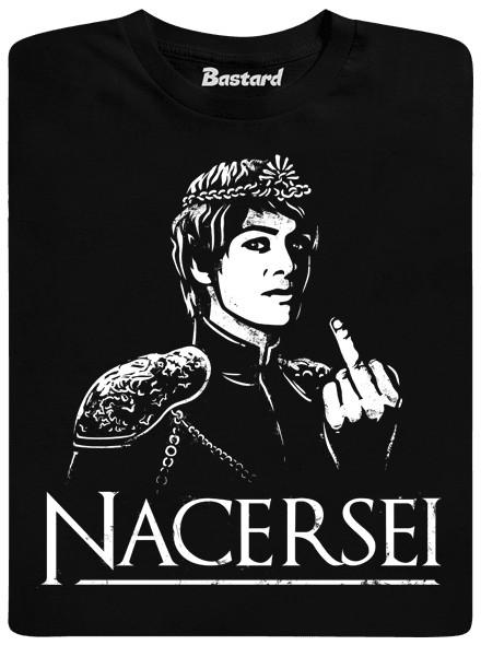 Nacersei - černé pánské tričko