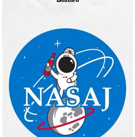 NASA nasává o sto šest - bílé pánské tričko