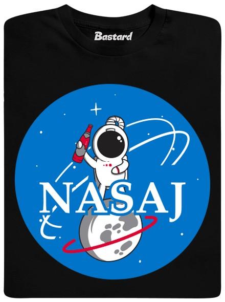 NASAj - černé pánské tričko