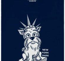 New Yorkshire - modré pánské tričko