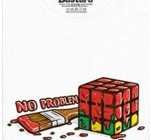 Žádný problém - Rubikova kostka - bílé dámské tričko