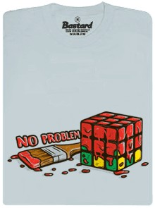 No problem - Rubikova kostka - šedé pánské tričko