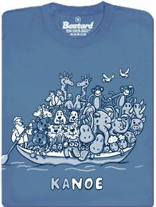 Noemova archa - modré pánské tričko s potiskem