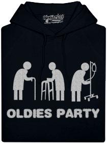 Černá dámská mikina s potiskem Oldies párty