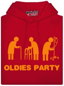 Červená pánská mikina Oldies párty