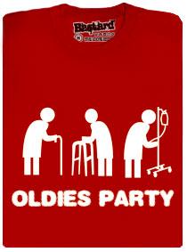 Tričko oldies party červené