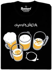 Olym-pijáda - černé pánské tričko
