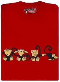 4 opice ukazují, co si o tom myslí