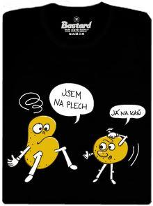 Opilé brambory - černé pánské tričko s potiskem