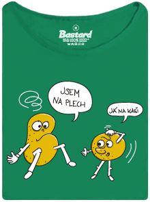 Brambory na kaši - zelené dámské tričko