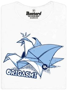 Origasmi - Origami od 18 let - bílé pánské tričko