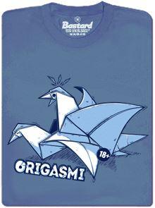 Origasmi - Origami pro dospělé - modré pánské tričko