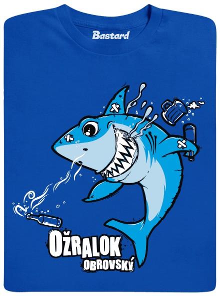 Ožralý žralok - modré pánské tričko