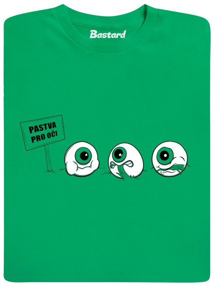 Pastva pro oči - zelené pánské tričko