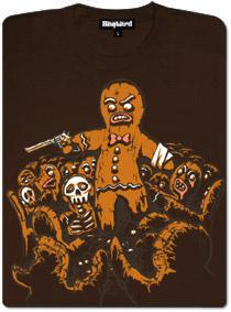 Perníčková apokalypsa - hnědé dámské tričko