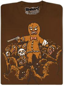 Perníčková apokalypsa - hnědé pánské tričko