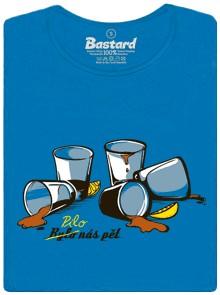 Bylo nás pět a pilo nás pět - modré dámské tričko