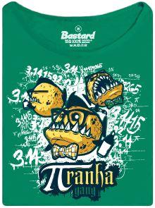 Piraní gang a číslo pí - zelené dámské tričko
