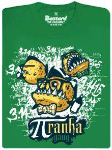 πranha gang sprejuje Ludolfovo číslo - zelené pánské tričko