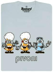 Pivoni - šedé pánské tričko s potiskem