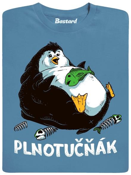 Plnotučný tlustý tučňák - modré pánské tričko