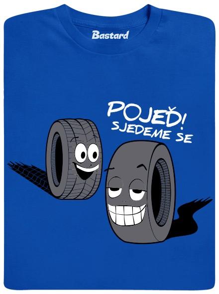 Pojeď! Sjedeme se - modré pánské tričko