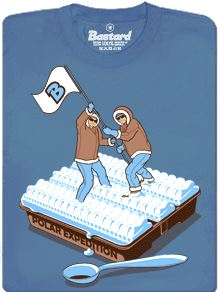 Polární expedice na polárkový dort - pánské tričko