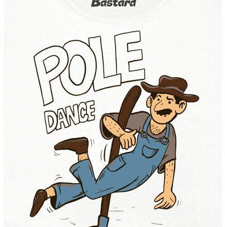 Pole dance na poli - bílé dámské tričko