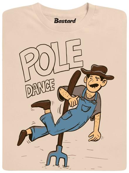 Farmář Tonda dělá pole dance na vidlích - hnědé pánské tričko