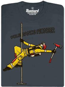 Pole dance pioneer - pánské tričko s potiskem