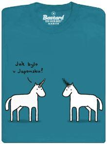 Jednorožeč, který se vrátil z Japonska - modré pánské tričko