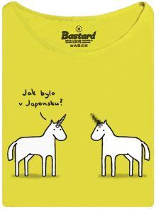 Jednorožec s cenzurovaným rohem - žluté dámské tričko