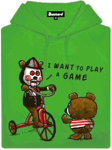 I want to play a game - zelená pánská mikina