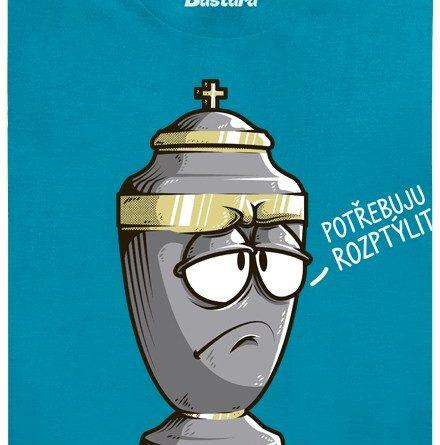 Urna chce rozptýlení - modré pánské tričko