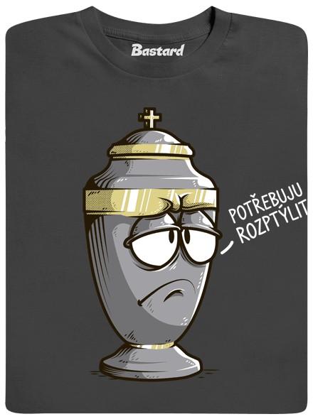 Urna potřebuje rozptýlit - šedé pánské tričko