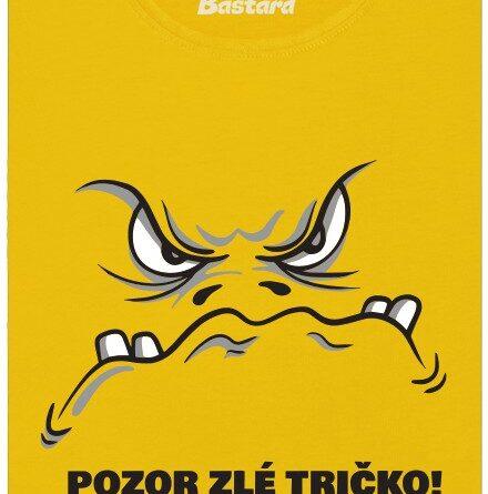 Pozor zlé tričko! - žluté dámské tričko