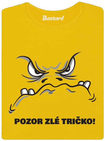 pozor-zle-tricko-zlute-damske-tricko-jpg