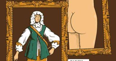 Předek a zadek v zarámovaném obrazu