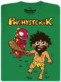 Prehysterik - pračlověk utíkající před dinosaurem