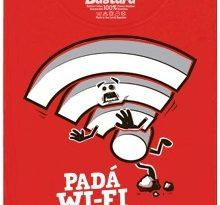 Padá Wi-Fi, přej si něco! - červené dámské tričko